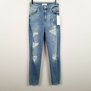 Guess 1981 Super High Rise Distressed Skinny Jeans
